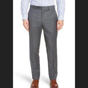 John W. Nordstrom Torino Classic Fit Flat Front Solid Dress Pants Size 35W